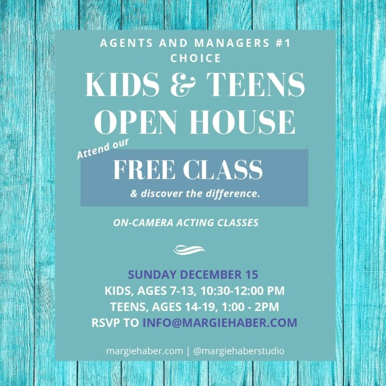 acting open house kids, kids acting classes, kids acting classes los angeles