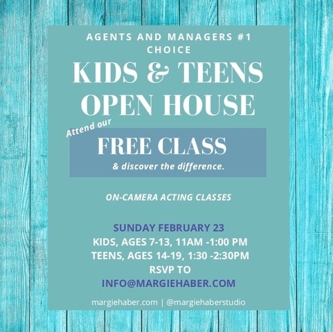 teen acting classes, kids acting classes